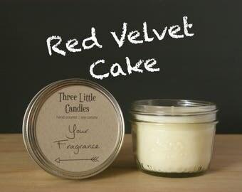 Red Velvet Cake Soy Candle Mason Jar - 170g - 30 + Hour Burn Time