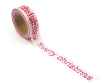 Red Merry Christmas Washi Tape Word 15mm x 10m