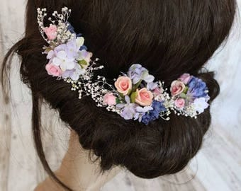 Flower hair pins