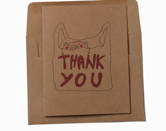 Thank you card/  Funny thank you card/ cute thank you card/ thank you card mom/ thank you card dad/ gratitude card/ funny gratitude card