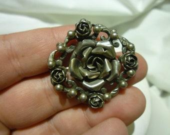 A75 Sterling Silver Flower Brooch.