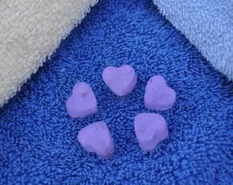 Mini Heart Soap 5 in each order, Lavender Soap, Lavender Buds, Handmade Soap, Homemade Soap, Gifts, Lavender, Soap