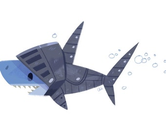 Shark Knight - Art Print
