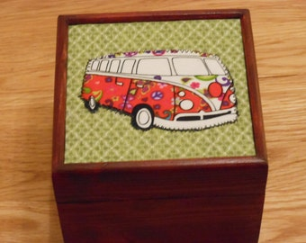 VW Campervan gift box/ jewellery/trinket/keepsake/storage box
