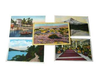 Scenic Tinted Photograph Postcard Destash Lot - Vintage Postcards - Vintage Ephemera - Souvenir Post Cards