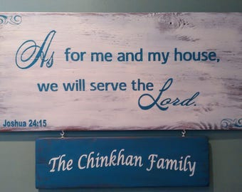As for me-Declaration Wooden sign (Personalized)