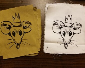 Rat King Screened Punk Patch