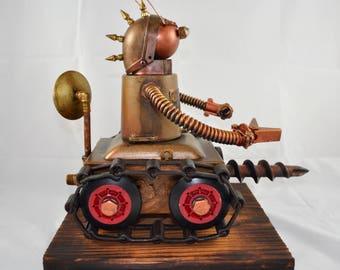 Tankbot Robot tank sculpture
