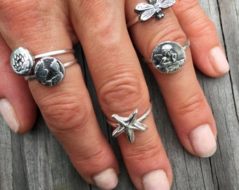 Dragonfly Ring, Silver Dragonfly,  Dragonfly Jewelry, Dragonfly Charm, Damselfly Ring, Insect Jewelry, Dragonfly Rings