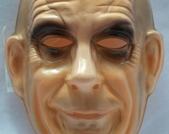 The Addams Family Uncle Fester Vintage Halloween Mask Rubies 1992 PVC Y030