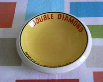 Beautiful Double Diamond Advertising Ashtray by Empire Porcelain Co.