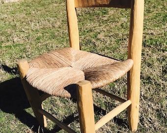 Amazing Handmade Child's Chair with Rush Bottom Seat