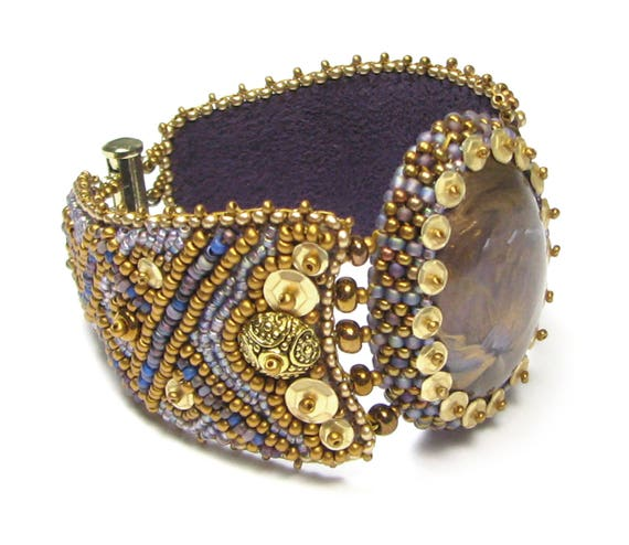 Viking bead embroidery bracelet digital pdf pattern by ann
