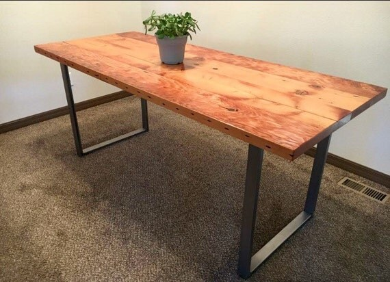 Reclaimed Wood Dining Table Industrial Wood By
