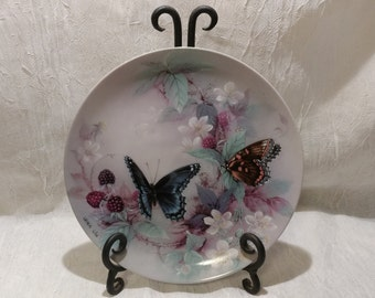 Vintage 1988 Red-Spotted Purples by Lena Liu Plate 3rd Issue in the On Gossamer Wings Series Plate # 3348 E