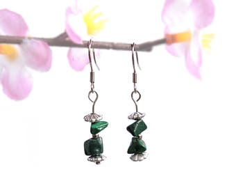 Natural jewelry, malachite earrings, natural earrings, malachite jewelry, nature jewelry, nature earring, healing crystal stone gemstone fyc