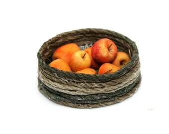 OOAK Basket of Honeycrisp Apples ~ Miniature Food ~ Dolls House Miniatures