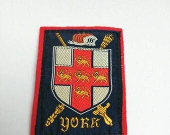Vintage patch York souvenir