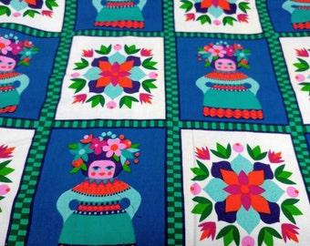 Vintage matryoshka fabric retro diy