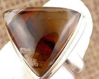 TUBULAR AGATE ring gem stone pendant natural chakra esotericism protection lithotherapy care minerals JA55.1