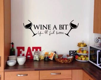 Funny Wall Decal Etsy - Custom vinyl wall decals sayings for office