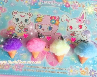 Pom Pom Ice Cream Pastel Charm - Fairy Kei