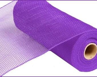 10 inch Purple Mesh RE130223, Purple Deco Mesh RE130223, Purple Deco Poly Mesh 10 Yards - RE130123