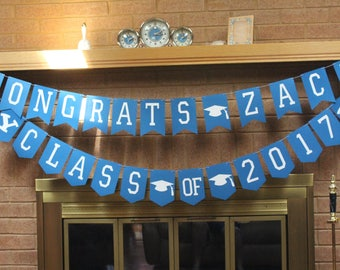 Custom class of 2017 Banner, Graduation Banner, Class of 2017