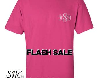 Monogram T Shirt Monogram Pocket Tee Ladies Gift Birthday Gift Bridal Party  personalized t-shirt personalized gift custom gift monogram tee