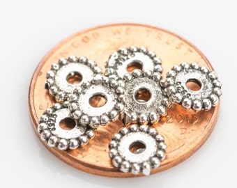Beads 925 Bali Sterling silver 10 per order-s6
