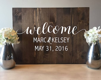 Wedding welcome sign, Wood Wedding Welcome Sign, Rustic Wood Wedding Sign, Rustic Wedding Sign, Wood welcome sign, Wooden Welcome sign