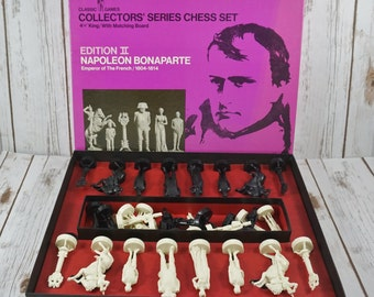 Napoleon Bonaparte Chess Set 1966 ~ Classic Games Collectors Series Chess Set Edition II ~ Themed Chess Game ~ Emperor Of The French