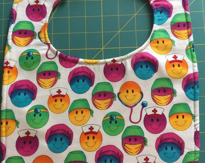 Baby Bib Nurse, Medical Professional, EMS: Toddler Size Choice of 3 Designs