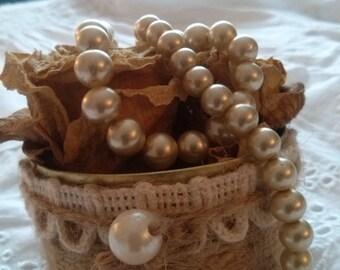 Aluminum hemp yarn and lace decoration vase