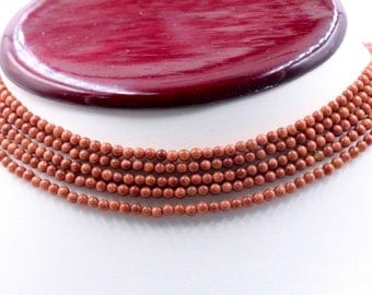 5-Strand Beaded Sandstone Necklace (Unfinished)