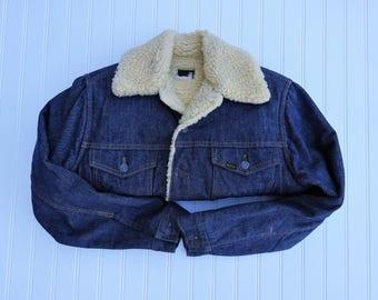 Vintage Sherpa Line Sears Geniune Roebuck Denim Jacket