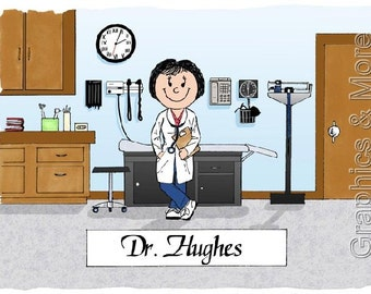 Doctor Personalized Cartoon Male Or Female - Great Gift Idea!
