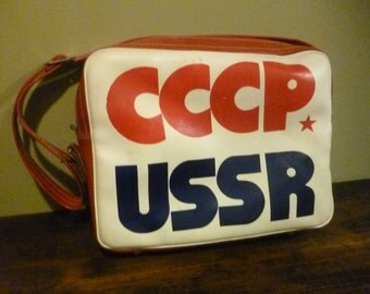 Vintage CCCP USSR Shoulder Bag 1980's