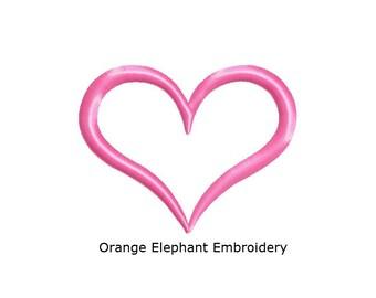 Simple Heart 02 Unique Urban Machine Embroidery Design digitl File