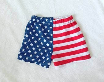 American Flag Baby Toddler Childrens Shorts / Fourth of July Boy Girl Shorts / 4th of July Baby Clothes