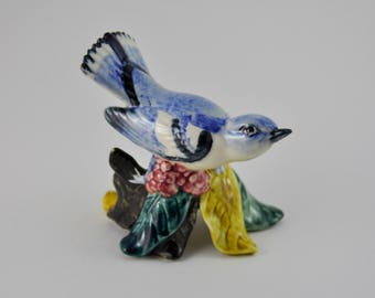 gallerymichel Stangle Pottery Bird Cerulean Warbler 3456 Signed MHF