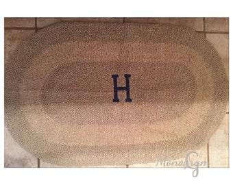 monogrammed bath rug monogrammed bath mat bath mat
