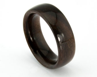 Wooden Ring Handcrafted In Solid  East Indian Rosewood