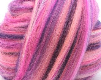 Merino Wool Combed Top/Roving by the Pound - Razzleberry