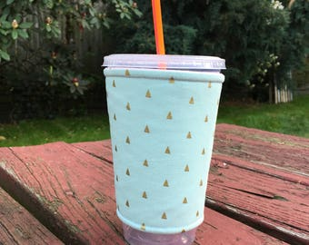 Caffeine Cuff - Iced Coffee Cuff - Iced Coffee Sleeve - Coffee Insulator