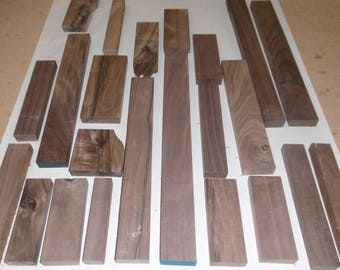 Solid Black Walnut Wood Scraps - Wood Working - Craft Wood - Various Sizes