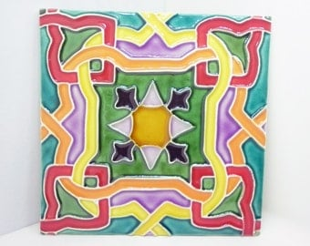 Traditional tile, crazy colors - 2