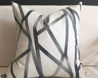 Pillow Cover, Black and White Pillow Cover, KENNEDY