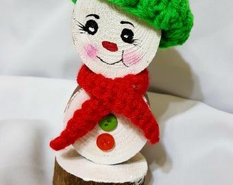 Snowman,Wooden Snowman,Christmas Decor,Teachers Gifts  #WS4
