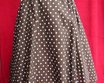 Long circle skirt